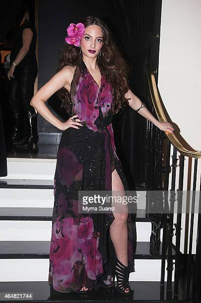 Alexa Ray Joel poses backstage at her concert at the Cafe Carlyle on February 28 2015 in New York City