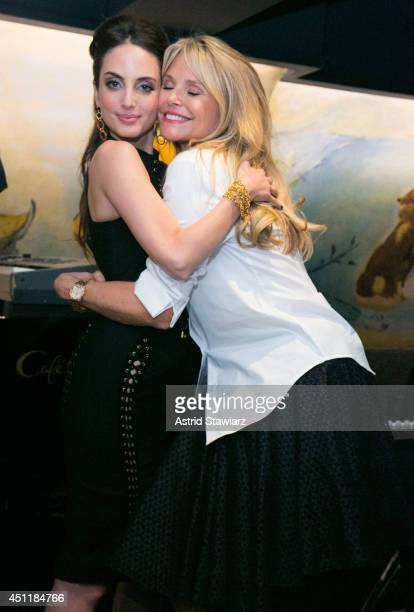 Alexa Ray Joel poses for photos with her mother Christie Brinkley after performing at Cafe Carlyle on June 24 2014 in New York City