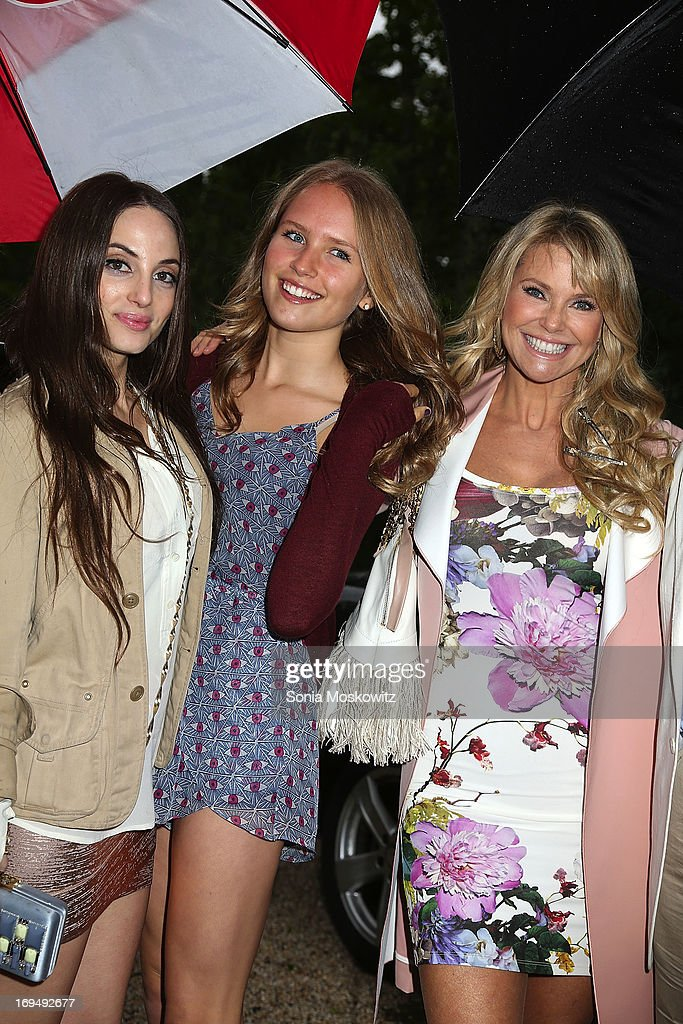 Alexa Ray Joel, Sailor Cook and Christie Brinkley attend the Social Life Magazine 10 Year Anniversary Party at 70 Tanager Lane on May 25, 2013 in Watermill, New York.