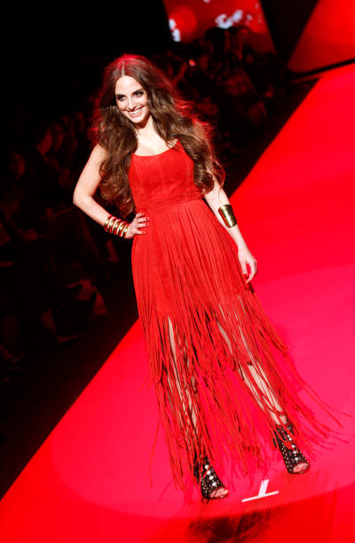 Alexa Ray Joel walks at the Go Red for Women Red Dress Collection during the Mercedes-Benz Fall/Wint