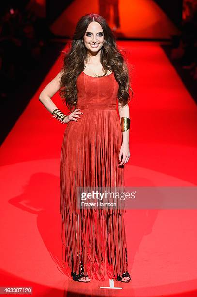 Alexa Ray Joel walks the runway at the Go Red For Women Red Dress Collection 2015 presented by Macy's fashion show during MercedesBenz Fashion Week...