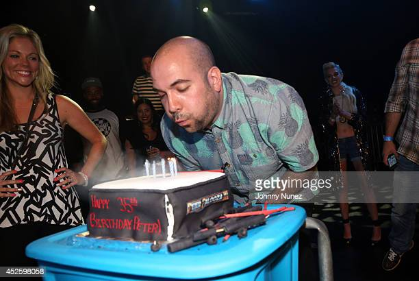 Alexa Rosenberg and radio personality Peter Rosenberg celebrate Peter Rosenberg's birthday at PeterPalooza 3 at Best Buy Theater on July 23 in New...