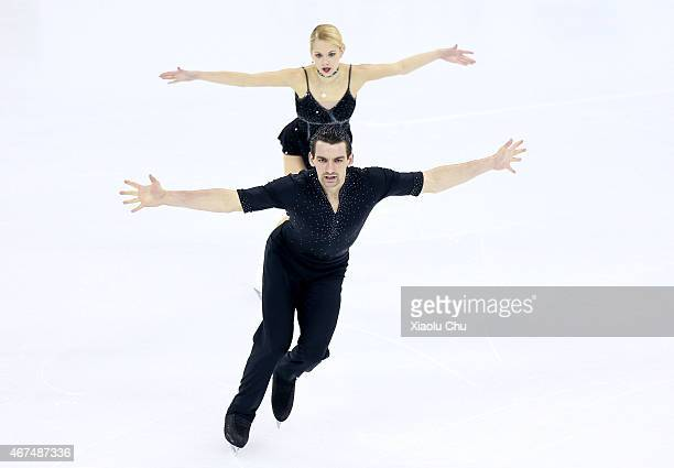 Alexa Scimeca and Chris Knierim of United States perform during the Pairs Short Program on day one of the 2015 ISU World Figure Skating Championships...