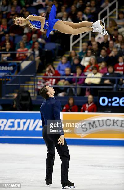 Alexa Scimeca and Christoper Knierim compete in the Championship Pairs Free Skate Pogram Competition during day 3 of the 2015 Prudential U.S. Figure...