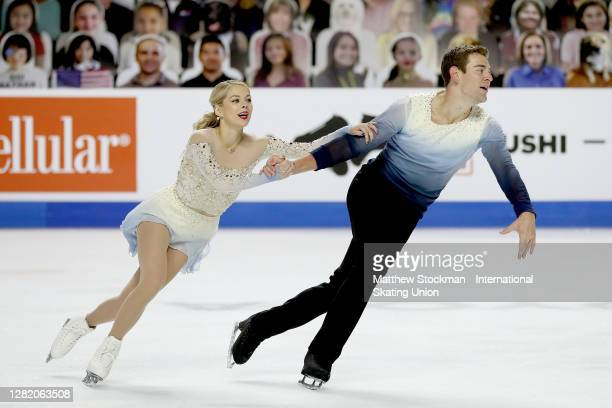 Alexa Scimeca Knierim and Brandon Frazier skate in the Pairs Free Skate during the ISU Grand Prix of Figure Skating at Orleans Arena October 24, 2020...