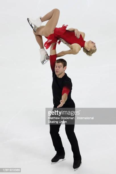 Alexa Scimeca Knierim and Brandon Frazier skate in the Pairs Short Program during the ISU Grand Prix of Figure Skating at Orleans Arena October 23,...