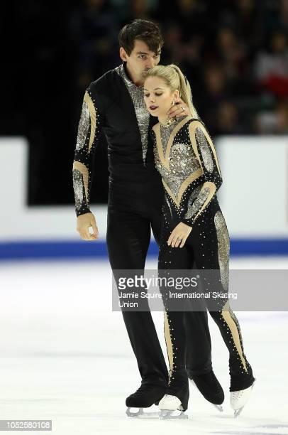 Alexa Scimeca Knierim and Chris Knierim of the United States compete in the Pairs Short Program during the ISU Grand Prix of Figure Skating Skate...