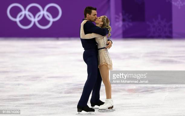 Alexa Scimeca Knierim and Chris Knierim of the United States compete in the Figure Skating Team Event - Pair Skating Short Program during the...