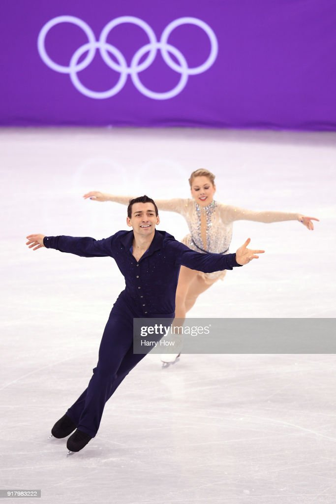 Alexa Scimeca Knierim and Chris Knierim of the United States compete during the Pair Skating Short Program on day five of the PyeongChang 2018 Winter Olympics at Gangneung Ice Arena on February 14, 2018 in Gangneung, South Korea.