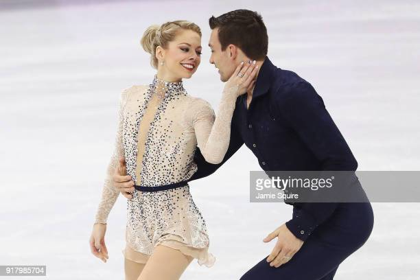 Alexa Scimeca Knierim and Chris Knierim of the United States compete during the Pair Skating Short Program on day five of the PyeongChang 2018 Winter...