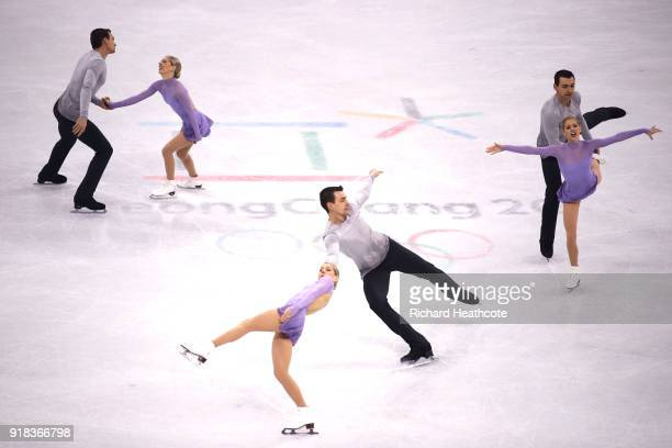 Alexa Scimeca Knierim and Chris Knierim of the United States compete during the Pair Skating Free Skating at Gangneung Ice Arena on February 15 2018...