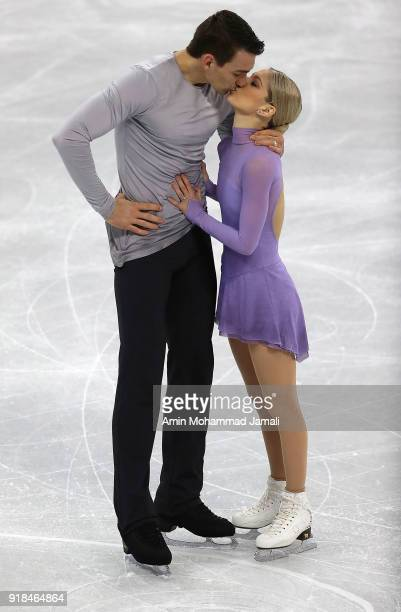 Alexa Scimeca Knierim and Chris Knierim of the United States competes during the Pair Skating Free Skating at Gangneung Ice Arena on February 15,...