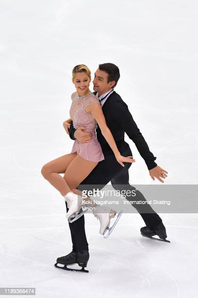 Alexa Scimeca Knierim and Chris Knierim of the United States perform in the Pair Short Program during day one of the ISU Grand Prix of Figure Skating...