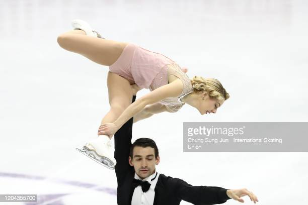 Alexa Scimeca Knierim and Chris Knierim of the United States perform in the Pairs Short Program during the ISU Four Continents Figure Skating...