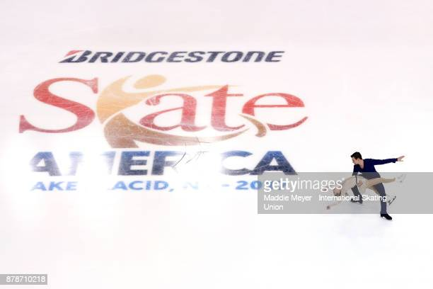 Alexa Scimeca Knierim and Chris Knierim of the United States perform during the Pairs Short program on Day 1 of the ISU Grand Prix of Figure Skating...