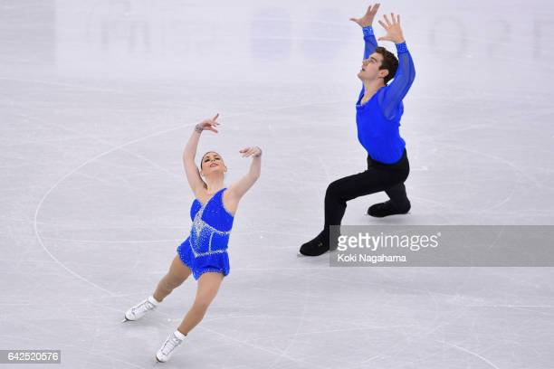 Alexa Scimeca Knierim and Chris Knierim of United States compete in the Pairs Free Skating during ISU Four Continents Figure Skating Championships...