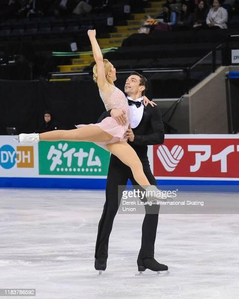 Alexa Scimeca Knierim and Chris Knierim of USA compete in the pairs short program during the ISU Grand Prix of Figure Skating Canada at Prospera...