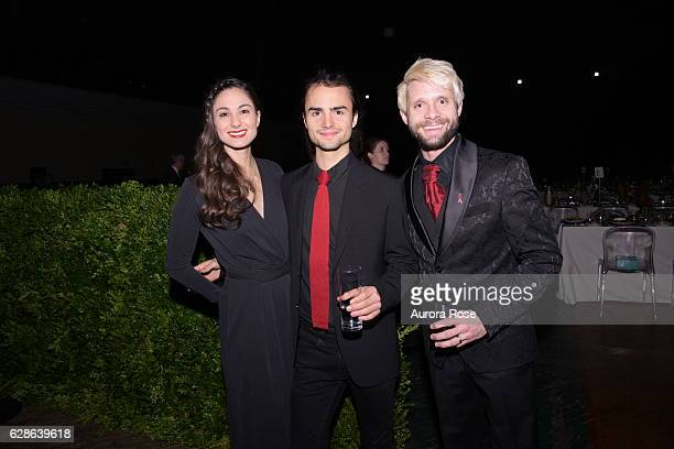 Alexa Squillaro Rhys Tivey and Daniel Pintauro attend ACRIA Holiday Dinner Honoring The Robert Mapplethorpe Foundation Judith Light and Casey Fremont...