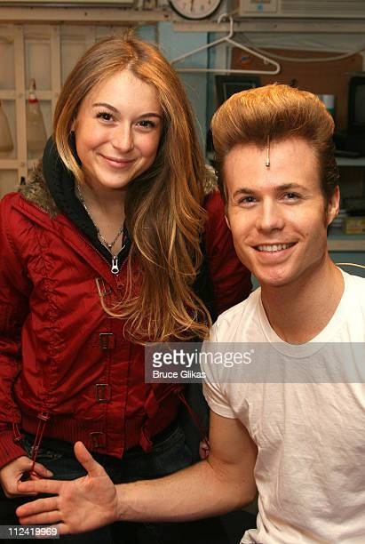 Alexa Vega and Ashley Parker Angel during Behind The Scenes with Ashley Parker Angel as he joins 'Hairspray' on Broadway at The Neil Simon Theatre in...