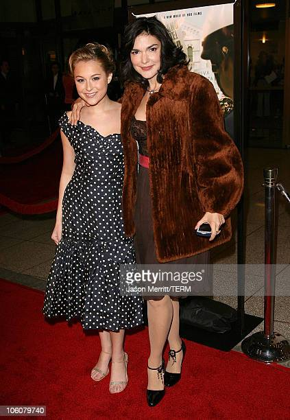 Alexa Vega and Laura Harring during HBO Films 'Walkout' Los Angeles Premiere Arrivals at Cinerama Dome in Hollywood California United States