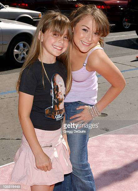 Alexa Vega and sister during A Cinderella Story World Premiere Arrivals at Grauman's Chinese Theatre in Hollywood California United States