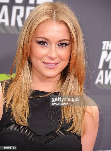 Alexa Vega arrives at the 2013 MTV Movie Awards at Sony Pictures Studios on April 14 2013 in Culver City California