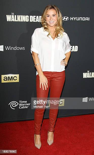 Alexa Vega arrives at the Los Angeles premiere of AMC's The Walking Dead 4th season held at Universal CityWalk on October 3 2013 in Universal City...