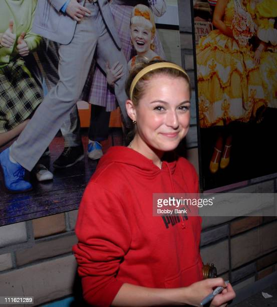 Alexa Vega during Jerry Mathers Joins the Cast of Hairspray as Wilbur Turnblad June 8 2007 at Neil Simon Theatre in New York City New York United...