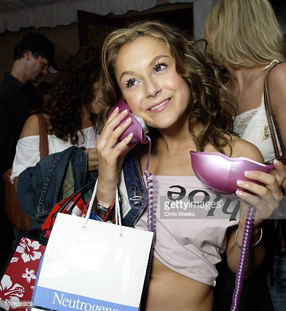 Alexa Vega visits MGA Entertainment's Bratz during 2003 Teen Choice Awards Backstage Creations Day of Show at Universal Amphitheatre in Universal...