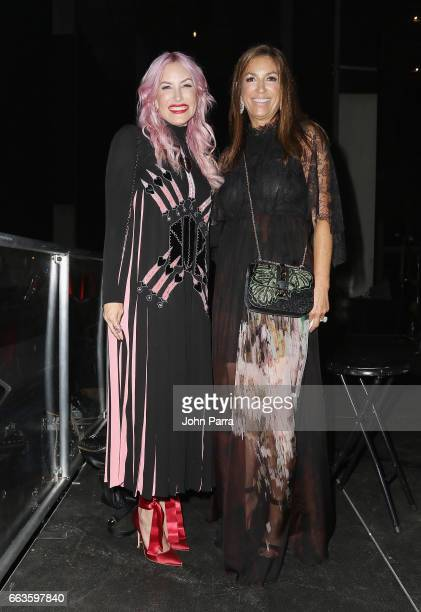 Alexa Wolman and Arlene Chaplin at PAMM Art Of The Party Presented By Valentino at Perez Art Museum Miami on April 1 2017 in Miami Florida