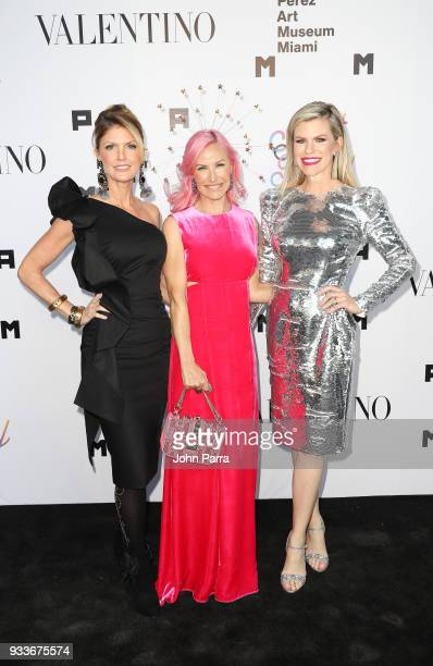 Alexa Wolman and Suzy Buckley attend PAMM Art Of The Party Presented By Valentino at Perez Art Museum Miami on March 17 2018 in Miami Florida