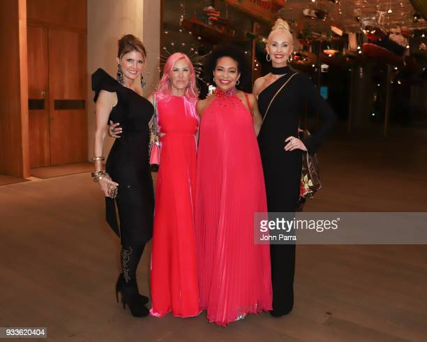 Alexa Wolman Deryl McKissak and guests attend PAMM Art Of The Party Presented By Valentino at Perez Art Museum Miami on March 17 2018 in Miami Florida