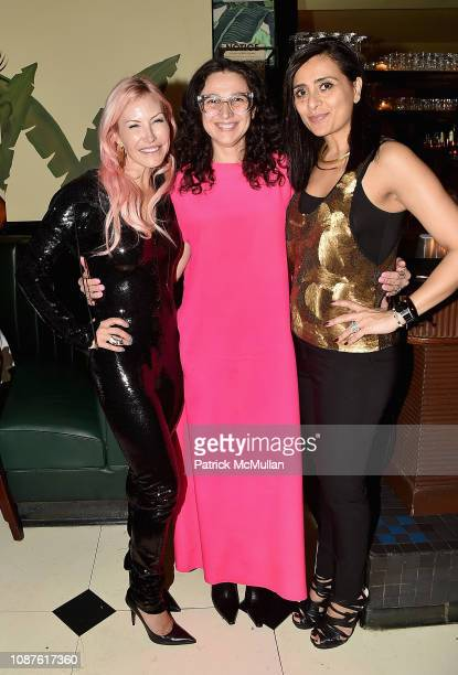 Alexa Wolman Paola Pivi and Nazy Nazhand attend The Andy Warhol Museum's Annual NYC Dinner at Indochine on November 12 2018 in New York City
