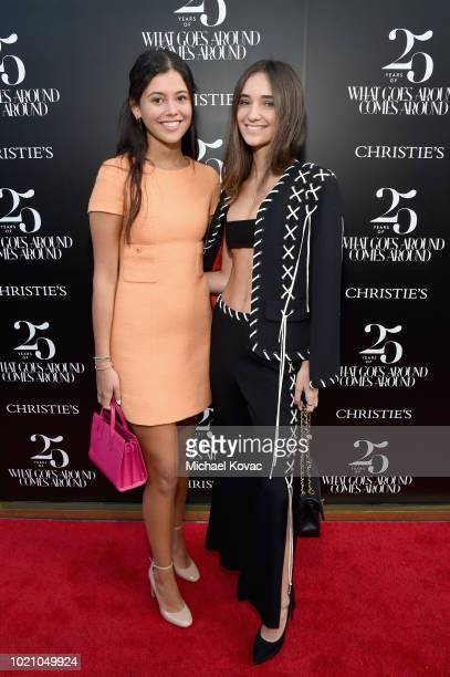 Alexa Zohar and guest attend Christie's x What Goes Around Comes Around 25th Anniversary Auction Preview at What Goes Around Comes Around on August...