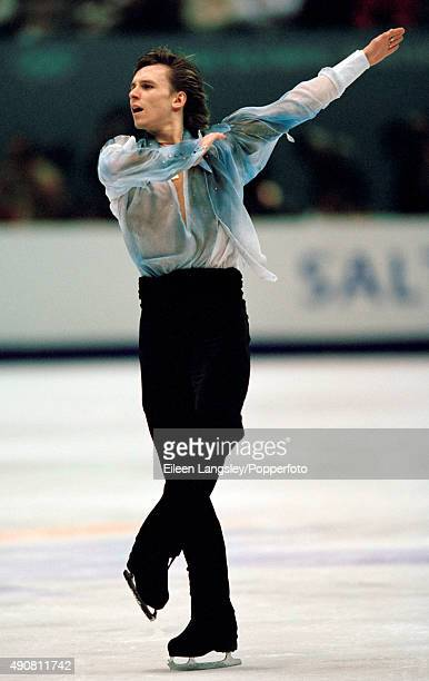Alexander Abt of Russia in action in the mens figure skating event during the Winter Olympic Games in Salt Lake City Utah circa February 2002