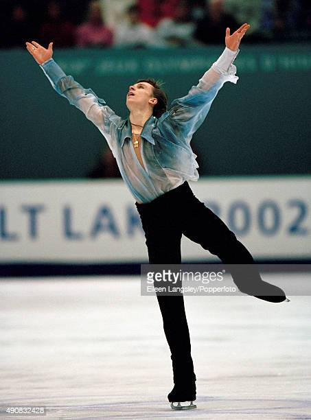 Alexander Abt of Russia in action in the men's figure skating event during the Winter Olympic Games in Salt Lake City Utah circa February 2002