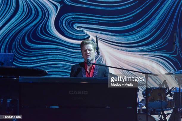 Alexander Acha performs during 'La Academia 2019' Presentation at Azteca Novelas on October 23, 2019 in Mexico City, Mexico.