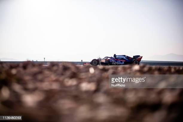 Alexander Albon from Thailand 23 Scuderia Toro Rosso Honda in action during the Formula 1 2019 PreSeason Tests at Circuit de Barcelona Catalunya in...