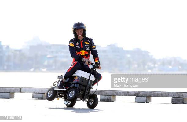 Alexander Albon of Thailand and Red Bull Racing during the Aston Martin Red Bull Racing Cooler Runnings event at Station Pier, Port Melbourne ahead...