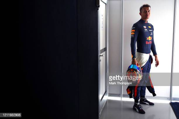 Alexander Albon of Thailand and Red Bull Racing poses for a photo in the Paddock during previews ahead of the F1 Grand Prix of Australia at Melbourne...