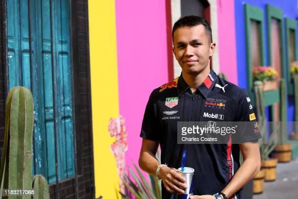 Alexander Albon of Thailand and Red Bull Racing walks in the Paddock during previews ahead of the F1 Grand Prix of Mexico at Autodromo Hermanos...