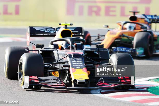Alexander Albon of Thailand driving the Aston Martin Red Bull Racing RB15 on track in the F1 Grand Prix of Japan at Suzuka Circuit on October 13,...