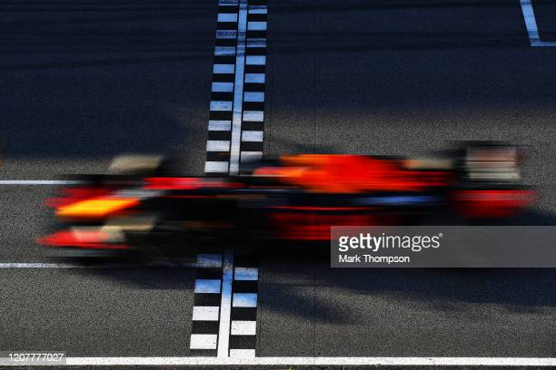 Alexander Albon of Thailand driving the Aston Martin Red Bull Racing RB16 on track during day three of F1 Winter Testing at Circuit de...