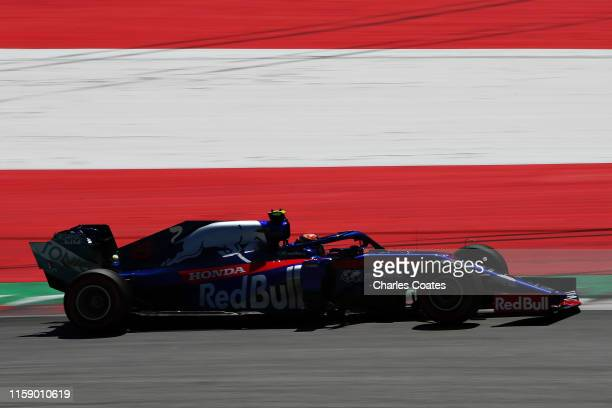 Alexander Albon of Thailand driving the Scuderia Toro Rosso STR14 Honda on track during final practice for the F1 Grand Prix of Austria at Red Bull...