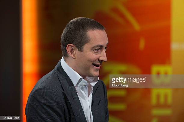 Alexander 'Alex' Molyneux chairmandesignate of Blumont Group Ltd speaks during a Bloomberg Television interview in Hong Kong China on Friday Oct 11...