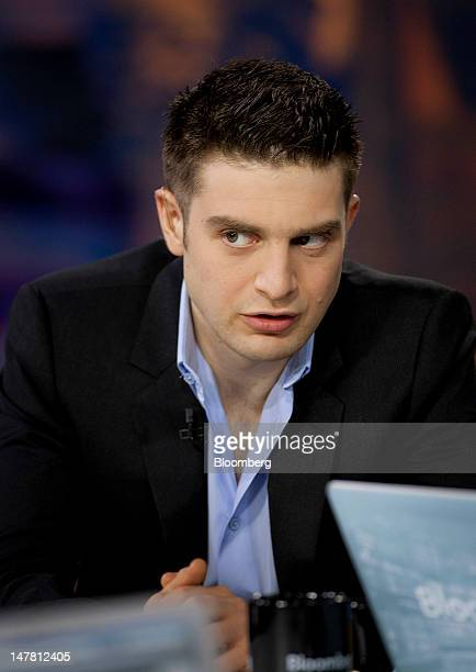 """Alexander """"Alex"""" Soros, founder of the Alexander Soros Foundation, speaks during a Bloomberg Television interview in New York, U.S., on Tuesday, July..."""