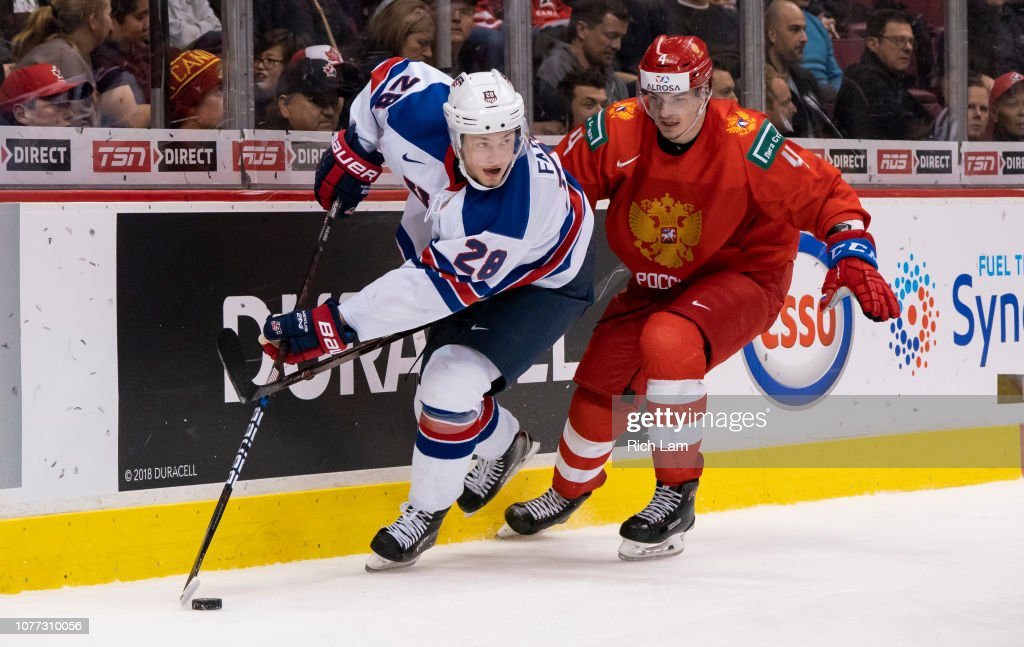 United States v Russia: Semifinals - 2019 IIHF World Junior Championship : News Photo
