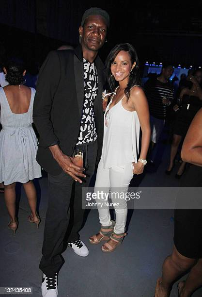 Alexander Allen and singer Rae attend DJ Cassidy's 30th birthday celebration and the one year anniversary of Hennessy Black at the Intrepid...