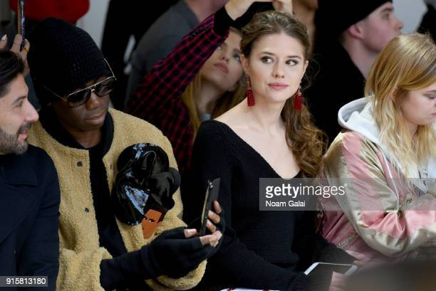 J Alexander and Model Alessandra Ford Balazs attends the front row for Noon by Noor during New York Fashion Week The Shows at Gallery II at Spring...