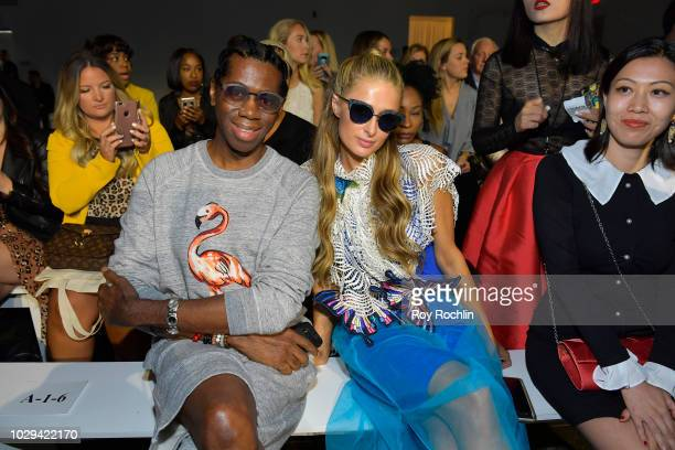 J Alexander and Paris Hilton attend the Jasmine fashion show during September 2018 New York Fashion Week The Shows at Industria Studios on September...
